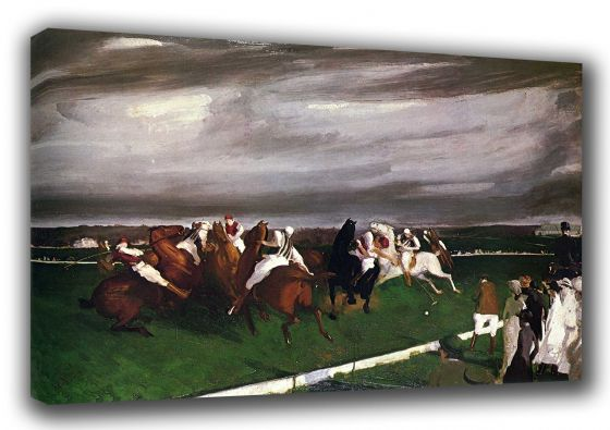 Bellows, George Wesley: Polo at Lakewood. Fine Art Sports Canvas. Sizes: A3/A2/A1 (00166)